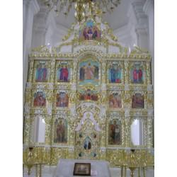 Иконостас храмовый 6г 5500х6000 255000грн 40000$ позолота