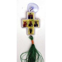 Подвеска крест иконостас  пластик с присоской упаковка 50 шт