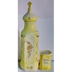 Бутылка керам. + стакан жел+желт Г