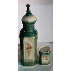 Бутылка керам. + стакан зелен.+желт Г
