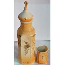 Бутылка керам. + стакан Оранжевая+желт Г