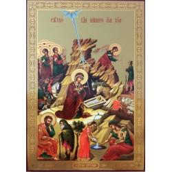 Рождество Иисуса Христа Лик БРОНЗА 20*30 Двунадесятые праздники