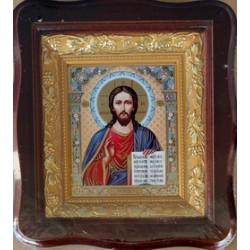 Иисус  Киот дер. фигурный 10х12