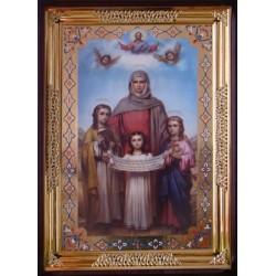 Вера, Надежда, Любовь и София 61х87 см