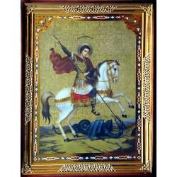 Георгий на коне 65х85 см киот фигурный