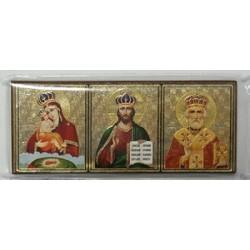 Почаевская Спас Николай в митре Тройник Р3Д упаковка 25 шт