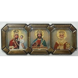 Призри на смирение Спас Николай  в митре Тройник Р3 С упаковка 25 шт