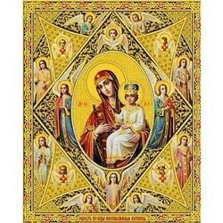 Неопалимая Купина Пресвятая Богородица 15х18 ламин