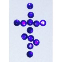 Синие Стразы пласт. с термоклеем 12 цена за 100г(3050шт)