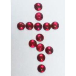 Красные Стразы пласт. с термоклеем 12  цена за 100г(3050шт)