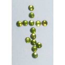 Зеленые Стразы пласт. с термоклеем 12  цена за 100г(3050шт)