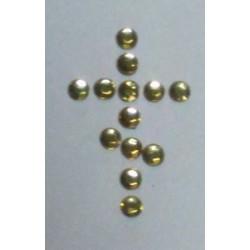 Желтые Стразы пласт. с термоклеем 16 цена за 100г(1800шт)