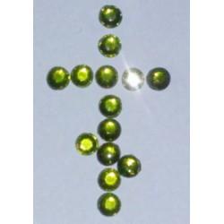 Зеленые Стразы пласт. с термоклеем 16 цена за 100г(1800шт)
