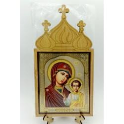 Казанская  Иконы на подставке 10х12 без стекла Мир