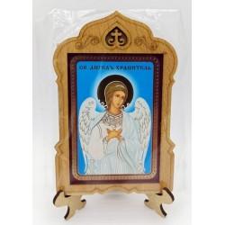 Ангел Хранитель Иконы на подставке 6х9 без стекла Мир