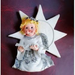 Ангел (керамическая крошка) с книгой (магнит)