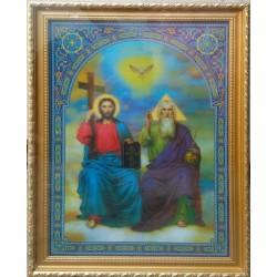 Тройца Ново Заветная Икона в баг.рам стерео 24х34  ПС159