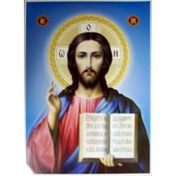 Иисус (синий фон. поясн.) 46*62см