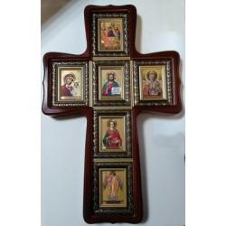 Крест Фигурный 6 икон (6х8)