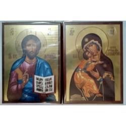 Владимирская Спаситель цена за пару Икона на планшете 14х19