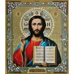 Иисус Христос 15*18 конгрев СОФРИНО ЭМАЛЬ ЦВЕТНАЯ