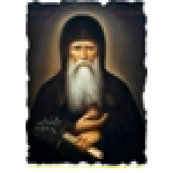Агапит Икона  Греческая под старину ХОЛСТ Нимбы 10х12