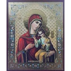 Иерусалимская  Пр. Б-ца Лик,4,2х5 см для скл. и мал. икон(цена за уп. 100 шт)
