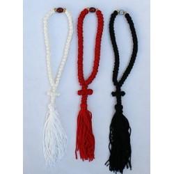 Подвеска плетеная с плетеным крестом ручная работа (белый,черный,бордо, красный) Греция