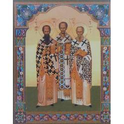 Три святителя полиграф,4,2х5 см для складней и мал. икон упаковка 100 шт