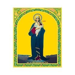 Благодатное небо  Пресвятая Богородица 10 х 12 (без мол-вы на обороте )