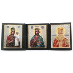 Призри на смирение Спас Николай Складни пл.тройные КН3лик (155х60) 02200