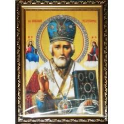 Николай Икона в баг.рам стерео 24х34  ПС622
