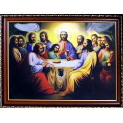 Тайная Вечеря Икона в баг.рам стерео 35х48 ПС 309