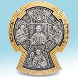 Крест КЕРАМИЧЕСКИЙ в дереве под орг.стеклом Р
