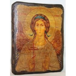 Ангел Хранитель Икона  Греческая под старину 14х17
