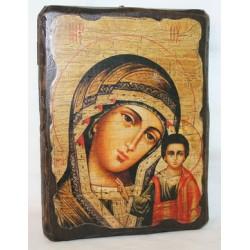 Казанская Икона  Греческая под старину 14х17