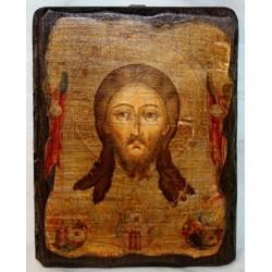 Нерукотворный образ Икона  Греческая под старину 14х17