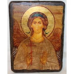 Ангел Хранитель Икона  Греческая под старину 17х23 Пр.