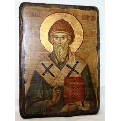 Спиридон Икона  Греческая под старину 17х23 Пр