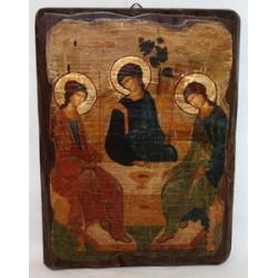 Тройца Рублева Икона  Греческая под старину 17х23 Пр