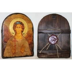 Ангел Хранитель Икона  Греческая под старину 17х23  Арка