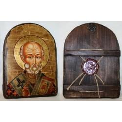 Николай Икона  Греческая под старину 17х23  Арка