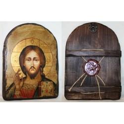 Спаситель Икона  Греческая под старину 17х23 Арка