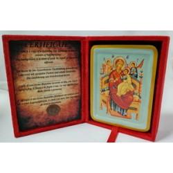 Всецарица Икона Греческая писаная  в бархатной коробке