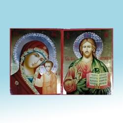 Казанская Спаситель Византия 210х280 в Подарочной коробке цена за пару